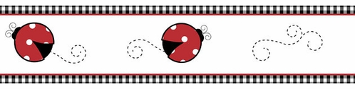 Red and White Polka Dot Little Ladybug Baby and Childrens Wall Border by Sweet Jojo Designs - Click to enlarge
