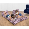 Red, White and Blue Stripe Kids Teen Floor Pillow Case Lounger Cushion Cover for Nautical Nights Collection