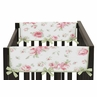 Riley's Roses Baby Crib Side Rail Guard Covers by Sweet Jojo Designs - Set of 2