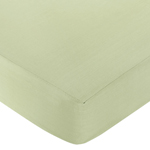 David Shaw JoJo Designs Riley's Roses Collection Fitted Crib Sheet - Solid Green