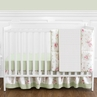 Riley's Roses Floral Baby Bedding - 4pc Crib Set