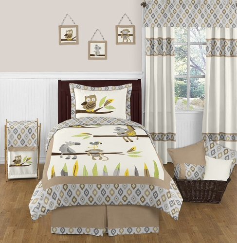 Safari Outback Jungle 3pc Full / Queen Bedding Set by Sweet Jojo Designs - Click to enlarge