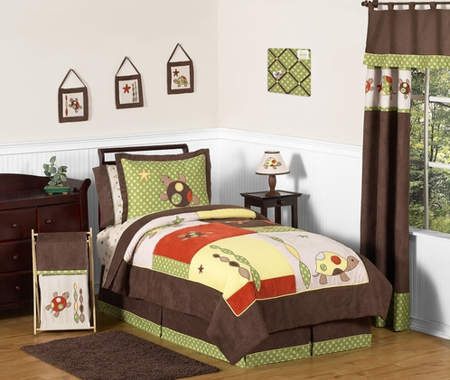 Sea Turtle - 4pc Boys Twin Bedding Set by Sweet Jojo Designs - Click to enlarge