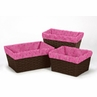 Set of 3 One Size Fits Most Basket Liners for Cowgirl Bedding Sets by Sweet Jojo Designs - Pink Bandana Print