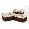 Set of 3 One Size Fits Most Basket Liners for Forest Friends Bedding Sets by Sweet Jojo Designs - Leaf Print