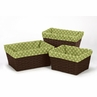 Set of 3 One Size Fits Most Basket Liners for Forest Friends Bedding Sets by Sweet Jojo Designs - Polka Dot