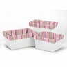 Set of 3 One Size Fits Most Basket Liners for Jungle Friends Bedding Sets