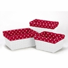 Set of 3 One Size Fits Most Basket Liners for Little Ladybug Bedding Sets by Sweet Jojo Designs - Polka Dot