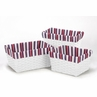 Set of 3 One Size Fits Most Basket Liners for Nautical Nights Bedding Sets by Sweet Jojo Designs - Stripe Print