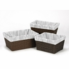 Set of 3 One Size Fits Most Basket Liners for Navy, Mint and Grey Woodsy Bedding Sets by Sweet Jojo Designs