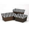 Set of 3 One Size Fits Most Basket Liners for Paris Bedding Sets