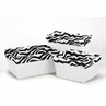 Set of 3 One Size Fits Most Basket Liners for Pink and Black Funky Zebra Bedding Sets by Sweet Jojo Designs