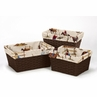 Set of 3 One Size Fits Most Basket Liners for WildWest Bedding Sets by Sweet Jojo Designs