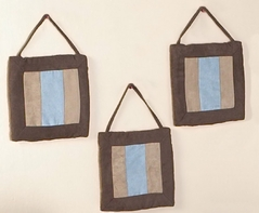 Soho Blue and Brown Wall Hanging Accessories by Sweet Jojo Designs