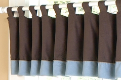 Soho Blue and Brown Window Valance