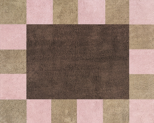 Soho Pink and Brown Accent Floor Rug - Click to enlarge