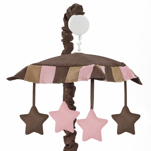 Soho Pink and Brown Crib Musical Mobile - Click to enlarge