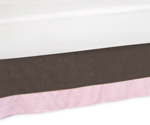 Soho - Pink and Brown Queen Bed Skirt by Sweet Jojo Designs