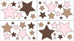 Soho Pink Baby, Childrens and Teens Wall Decal Stickers - Set of 4 Sheets