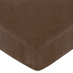 Soho Pink Fitted Crib Sheet for Baby and Toddler Bedding Sets by Sweet Jojo Designs - Solid Chocolate Microsuede