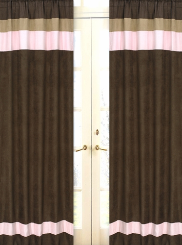 Soho Pink Window Treatment Panels - Set of 2 - Click to enlarge