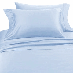 Solid Blue Hotel Spa Collection 300TC Sheet Set