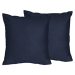 Solid Navy Decorative Accent Throw Pillows for Space Galaxy Collection - Set of 2