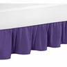 Solid Purple Twin Bed Skirt for Sloane Bedding Sets