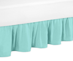 Solid Turquoise Queen Bed Skirt for Skylar Bedding Sets