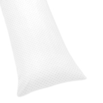 Solid White Minky Dot Full Length Double Zippered Body Pillow Case Cover