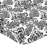 Sophia Fitted Crib Sheet for Baby and Toddler Bedding Sets by Sweet Jojo Designs - Damask Print
