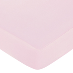 Sophia Fitted Crib Sheet for Baby and Toddler Bedding Sets by Sweet Jojo Designs - Solid Pink
