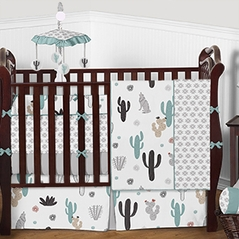 South Western Cactus Baby Bedding - 9pc Boys Girls Crib Set by Sweet Jojo Designs