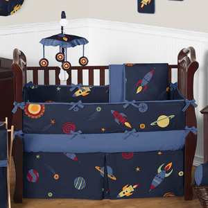 Space Galaxy Baby Bedding - 9pc Crib Set by Sweet Jojo De...