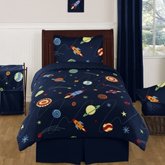 Space Galaxy Childrens and Kids Bedding - 4pc Twin Set by Sweet Jojo Designs