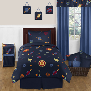 JoJo Designs Space Galaxy 4pc Twin Bedding Set Collection