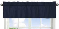 Navy Window Valance for Space GalaxyCollection by Sweet ...