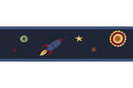 Space Galaxy Kids and Baby Modern Wall Paper Border