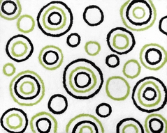 Spirodot Lime and Black Accent Floor Rug by Sweet Jojo Designs