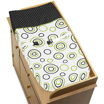 Spirodot Lime and Black Baby Changing Pad Cover by Sweet ...