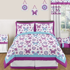 Spring Garden Childrens and Kids Bedding - 3pc Full / Queen Set by Sweet Jojo Designs