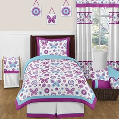 Spring Garden Childrens and Kids Bedding - 4pc Twin Set by Sweet Jojo Designs
