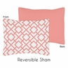 Standard Pillow Sham for Coral and White Diamond Bedding by Sweet Jojo Designs