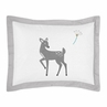 Standard Pillow Sham for Forest Deer and Dandelion Bedding by Sweet Jojo Designs