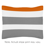 Standard Pillow Sham for Gray and Orange Stripe Bedding by Sweet Jojo Designs