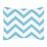 Standard Pillow Sham for Turquoise and White Chevron Zig Zag Bedding by Sweet Jojo Designs