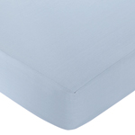 Starry Night Fitted Crib Sheet for Baby/Toddler Bedding Sets - Chambray Blue