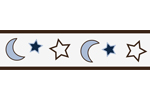 Starry Night Stars and Moons Baby and Kids Wall Paper Border by Sweet Jojo Designs