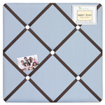 Starry Night Stars and Moons Fabric Memory/Memo Photo Bulletin Board