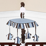 Starry Night Stars and Moons Musical Baby Crib Mobile by Sweet Jojo Designs